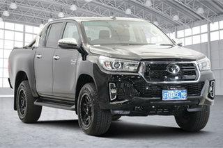 2020 Toyota Hilux GUN126R SR5 Double Cab Black 6 Speed Sports Automatic Utility.