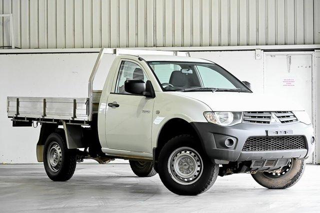 Used Mitsubishi Triton MN MY15 GL 4x2 Laverton North, 2014 Mitsubishi Triton MN MY15 GL 4x2 White 5 Speed Manual Cab Chassis