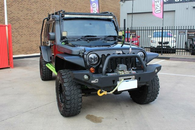 Used Jeep Wrangler Unlimited JK MY12 Sport (4x4) Hoppers Crossing, 2012 Jeep Wrangler Unlimited JK MY12 Sport (4x4) Black 5 Speed Automatic Softtop