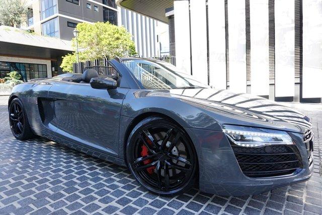 Used Audi R8 East Brisbane, 2013 Audi R8 Daytona Grey 7 Speed Sports Automatic Dual Clutch Convertible