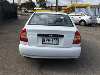 2001 Hyundai Accent LC GL White 5 Speed Manual Sedan