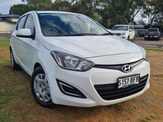 2014 Hyundai i20 PB MY14 Active White 4 Speed Automatic Hatchback.