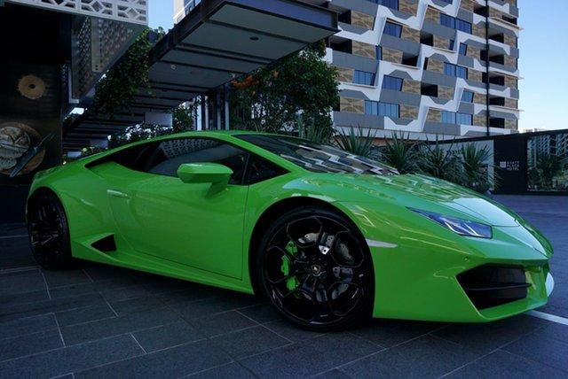 Used Lamborghini Huracan 724 East Brisbane, 2019 Lamborghini Huracan 724 LP580-2 Verde Mantis 7 Speed Sports Automatic Dual Clutch Coupe