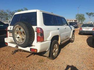 2010 Nissan Patrol White 5 Speed Manual Wagon.