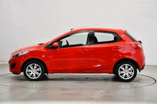 2011 Mazda 2 DE10Y2 MY12 Neo Red 4 Speed Automatic Hatchback.