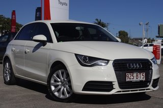 2014 Audi A1 8X MY14 Attraction Sportback S Tronic Glacier White 7 Speed.