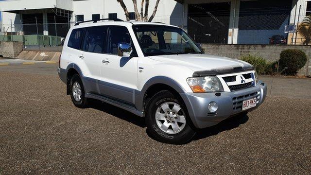 Used Mitsubishi Pajero NP Exceed LWB (4x4) Underwood, 2003 Mitsubishi Pajero NP Exceed LWB (4x4) White 5 Speed Auto Sports Mode Wagon