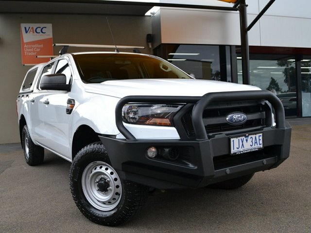 Used Ford Ranger PX MkII XL Hi-Rider Fawkner, 2017 Ford Ranger PX MkII XL Hi-Rider White 6 Speed Sports Automatic Utility