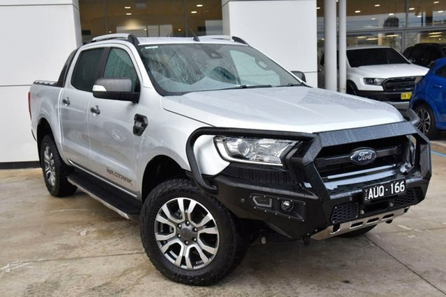 Used Ford Ranger PX MkII 2018.00MY Wildtrak Double Cab Oakleigh, 2018 Ford Ranger PX MkII 2018.00MY Wildtrak Double Cab Silver 6 Speed Sports Automatic Utility