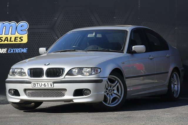 Used BMW 3 Series E46 MY2002 318i Steptronic Campbelltown, 2003 BMW 3 Series E46 MY2002 318i Steptronic Silver 5 Speed Sports Automatic Sedan