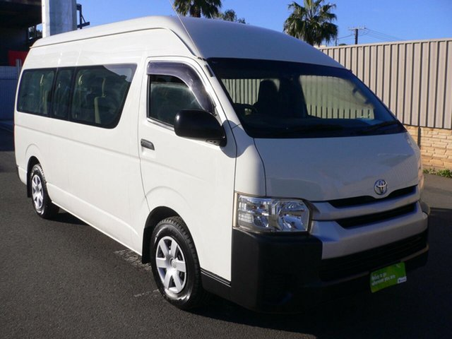 Used Toyota HiAce KDH223R Commuter High Roof Super LWB St Marys, 2015 Toyota HiAce KDH223R Commuter High Roof Super LWB White 5 Speed Manual Bus