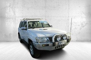 2009 Nissan Patrol GU 6 MY08 ST White 5 Speed Manual Wagon.