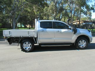 2017 Ford Ranger PX MkII 2018.00MY XLT Double Cab Silver 6 Speed Manual Utility.