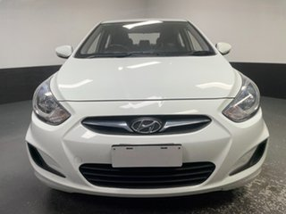 2013 Hyundai Accent RB Active White 4 Speed Sports Automatic Sedan.