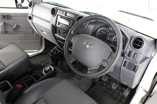 2015 Toyota Landcruiser VDJ79R MY12 Update Workmate (4x4) White 5 Speed Manual Cab Chassis