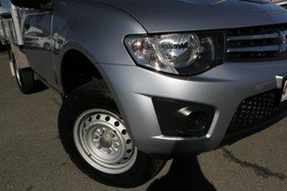 2012 Mitsubishi Triton MN MY13 GLX 4x2 Cool Silver 5 Speed Manual Cab Chassis.