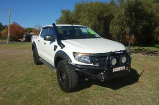 2013 Ford Ranger PX XL White 6 Speed Sports Automatic Utility.
