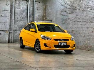 2017 Hyundai Accent RB5 MY17 Sport Yellow 6 Speed Manual Sedan.