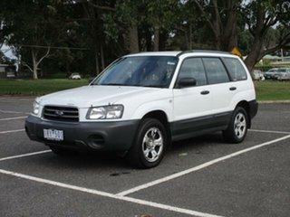 2004 Subaru Forester 79V X White Automatic Wagon.