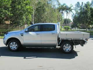 2017 Ford Ranger PX MkII 2018.00MY XLT Double Cab Silver 6 Speed Manual Utility