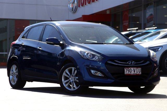 Pre-Owned Hyundai i30 GD2 MY14 SE Woolloongabba, 2014 Hyundai i30 GD2 MY14 SE Blue 6 Speed Sports Automatic Hatchback