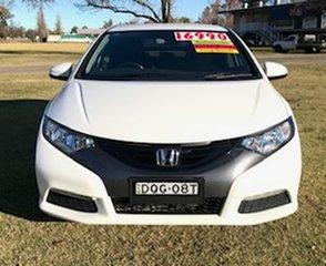 2013 Honda Civic 9th Gen MY13 VTi-S White 5 Speed Sports Automatic Hatchback.