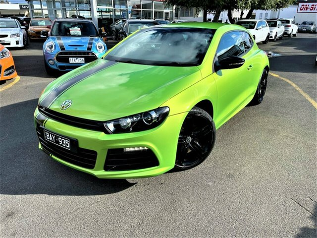 Used Volkswagen Scirocco 1S MY13 R Coupe Seaford, 2012 Volkswagen Scirocco 1S MY13 R Coupe Green 6 Speed Manual Hatchback
