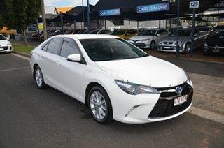 2015 Toyota Camry AVV50R MY15 Atara S Hybrid White Continuous Variable Sedan.