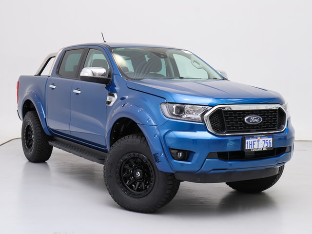 Used Ford Ranger PX MkIII MY21.25 XLT 3.2 (4x4), 2020 Ford Ranger PX MkIII MY21.25 XLT 3.2 (4x4) Blue 6 Speed Automatic Double Cab Chassis