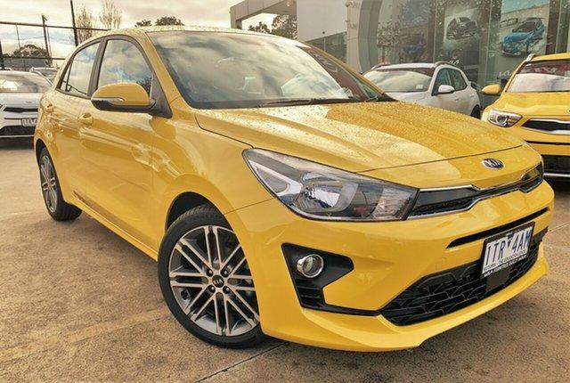 Demo Kia Rio YB MY21 Sport Ferntree Gully, 2021 Kia Rio YB MY21 Sport Mighty Yellow 6 Speed Automatic Hatchback