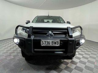 2018 Mitsubishi Triton MR MY19 GLX+ Double Cab White Solid 6 Speed Sports Automatic Utility.