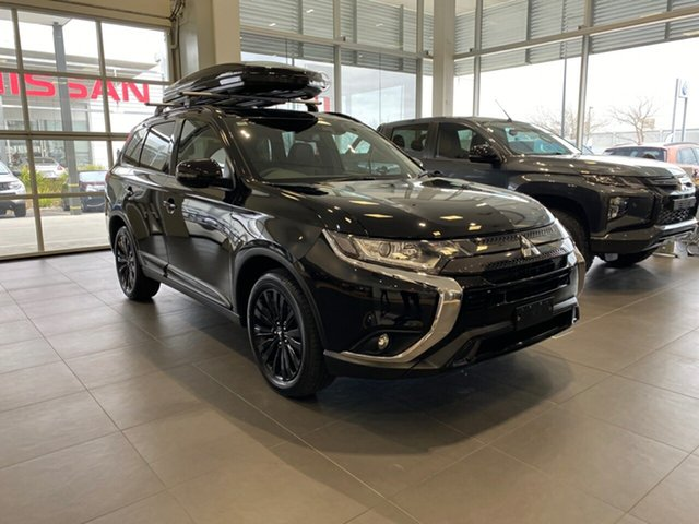 New Mitsubishi Outlander ZL MY21 Black Edition 2WD Essendon North, 2021 Mitsubishi Outlander ZL MY21 Black Edition 2WD Black 6 Speed Constant Variable Wagon