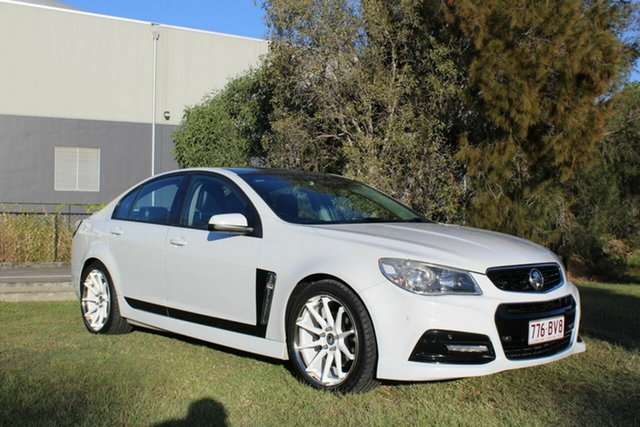 Used Holden Commodore VF MY14 SV6 Ormeau, 2014 Holden Commodore VF MY14 SV6 White 6 Speed Sports Automatic Sedan