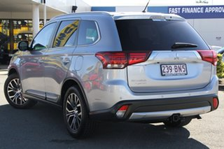 2015 Mitsubishi Outlander ZK MY16 XLS 2WD Cool Silver 6 Speed Constant Variable Wagon.