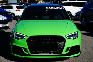 2020 Audi RS 3 8V MY20 Carbon Edition Sportback S Tronic Quattro Green 7 Speed.