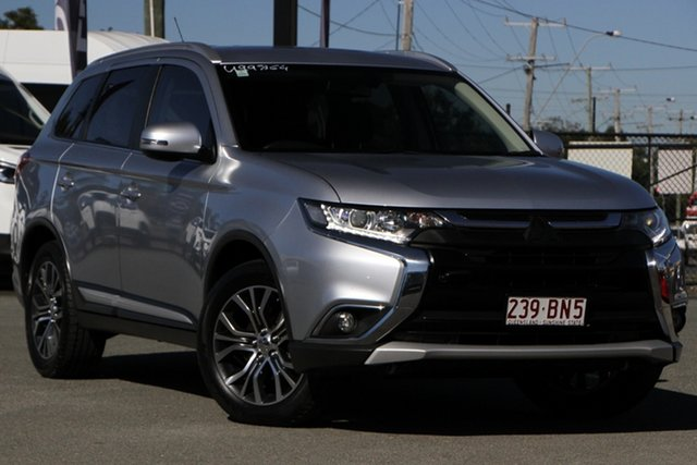 Used Mitsubishi Outlander ZK MY16 XLS 2WD Rocklea, 2015 Mitsubishi Outlander ZK MY16 XLS 2WD Cool Silver 6 Speed Constant Variable Wagon