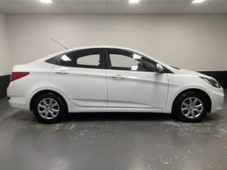 2013 Hyundai Accent RB Active White 4 Speed Sports Automatic Sedan