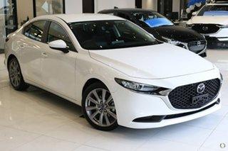 2021 Mazda 3 BP2SLA G25 SKYACTIV-Drive Evolve White 6 Speed Sports Automatic Sedan.