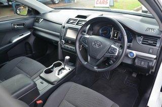 2015 Toyota Camry AVV50R MY15 Atara S Hybrid White Continuous Variable Sedan