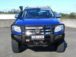 2012 Ford Ranger PX XLT Double Cab Blue 6 Speed Manual Utility