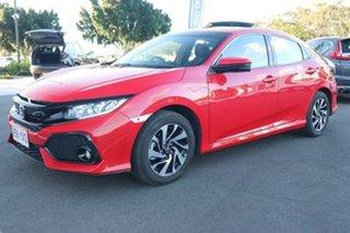 2018 Honda Civic 10th Gen MY18 VTi-S Rallye Red 1 Speed Constant Variable Hatchback.