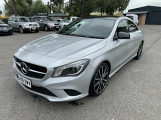 2014 Mercedes-Benz CLA-Class C117 CLA200 DCT Silver 7 Speed Sports Automatic Dual Clutch Coupe.