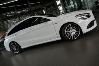 2018 Mercedes-Benz CLA-Class X117 809MY CLA250 Shooting Brake DCT 4MATIC Sport White 7 Speed.