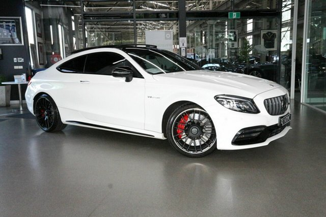 Used Mercedes-Benz C-Class C205 809MY C63 AMG SPEEDSHIFT MCT S North Melbourne, 2019 Mercedes-Benz C-Class C205 809MY C63 AMG SPEEDSHIFT MCT S White 9 Speed Sports Automatic Coupe