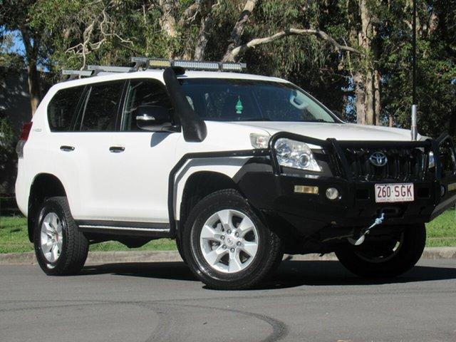 Used Toyota Landcruiser Prado KDJ150R GX, 2011 Toyota Landcruiser Prado KDJ150R GX White 6 Speed Manual Wagon
