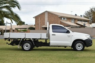 2010 Toyota Hilux TGN16R MY10 Workmate 4x2 White 5 Speed Manual Cab Chassis