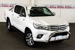 2015 Toyota Hilux GUN126R SR5 Double Cab Crystal Pearl 6 Speed Sports Automatic Utility.