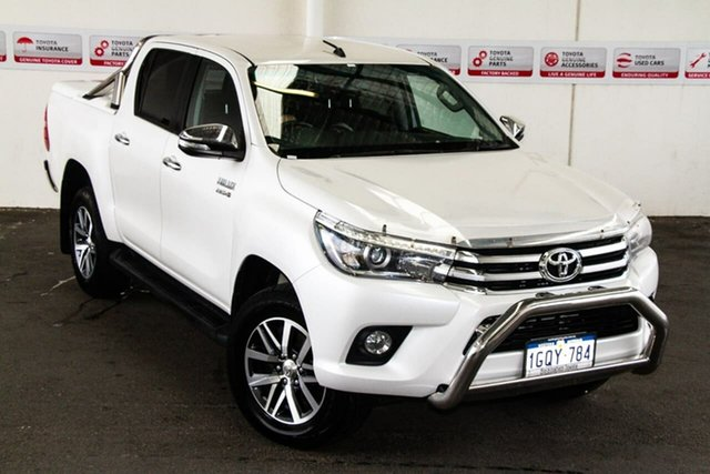 Pre-Owned Toyota Hilux GUN126R SR5 Double Cab Myaree, 2015 Toyota Hilux GUN126R SR5 Double Cab Crystal Pearl 6 Speed Sports Automatic Utility