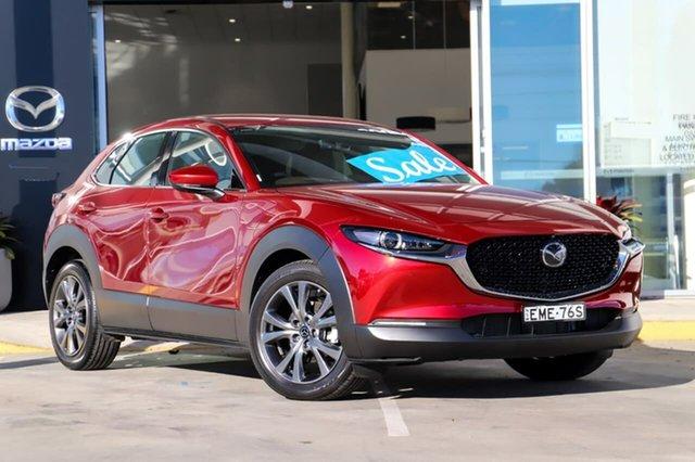 Used Mazda CX-30 DM2W7A G20 SKYACTIV-Drive Astina Kirrawee, 2020 Mazda CX-30 DM2W7A G20 SKYACTIV-Drive Astina Red 6 Speed Sports Automatic Wagon