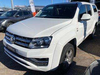 2017 Volkswagen Amarok 2H MY18 TDI550 4MOTION Perm Sportline White 8 Speed Automatic Utility.